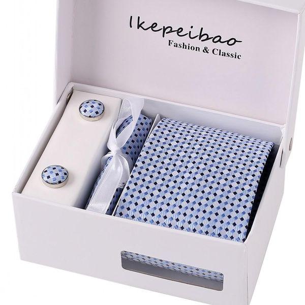 Männer 8cm Krawatte Set Tasche Platz Ärmel Knopf Krawatte Clip Taschentuch und Taschentuch Set Krawatte Manschettenknopf Boxed Geschenk