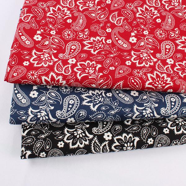 dbf963640e Clássico do vintage 100% Algodão Qualiy Paisley Costura de Tecido Patchwork  DIY Bandanas 148 cm