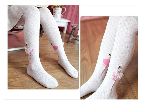 Free Shipping Baby Girls Ballerina tights Cotton Leggings Girl Cute Leggings Stocking Ballet Girl Dancing tights 4-12T