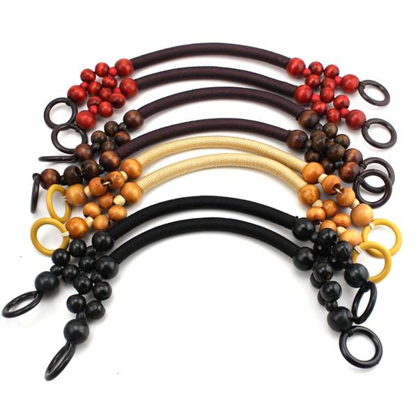 La cuerda de madera de las gotas de la moda maneja para la venta de la fábrica de los bolsos hechos a mano