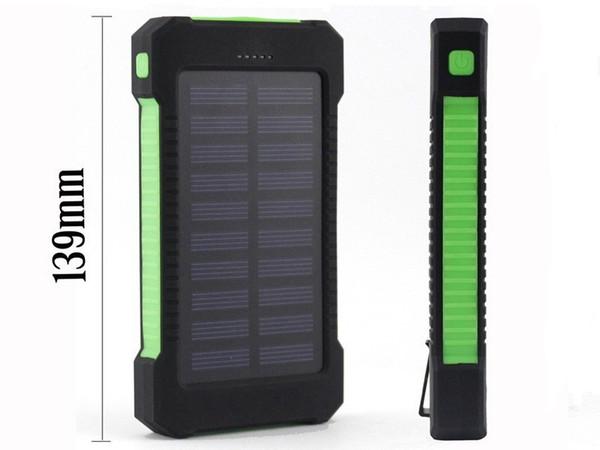 Solar Power Bank Dual USB Power Bank mit LED-Licht 20000mAh wasserdicht Powerbank Bateria externes tragbares Ladegerät für iphone7