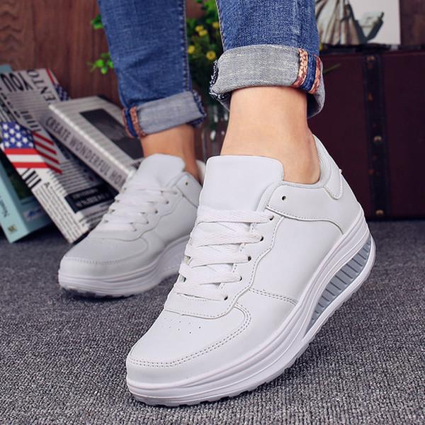 Cesta Mujer Para Cuñas Zapatillas Deporte Blancas Up 2019 Femme Tenis Compre Verano Trainers Casuales De Zapatos Plataforma Femeninos Lace OZN0k8nXwP