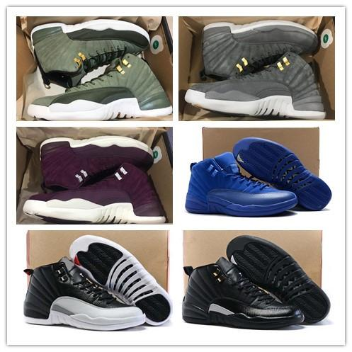 Wholesale 12 Class of 2003 Bordeaux Basketball Shoes Men Sport Shoe 12s TAXI Playoff BLAck Suede Sports Trainers High Quality Sneakers
