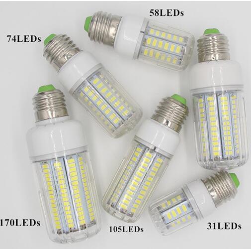 5736 SMD Lampada LED Lamp E27 220V Corn Light E14 LED Bulbs 3W 5W 7W 9W 12W 15W Candle Spotlight Luz Chandelier