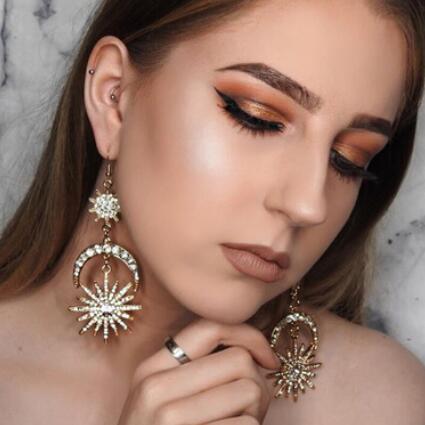 boucles d'oreilles bijoux design pour les femmes soleil lune étoiles pendentif boucles d'oreilles nouveau style chaud mode libre d'expédition