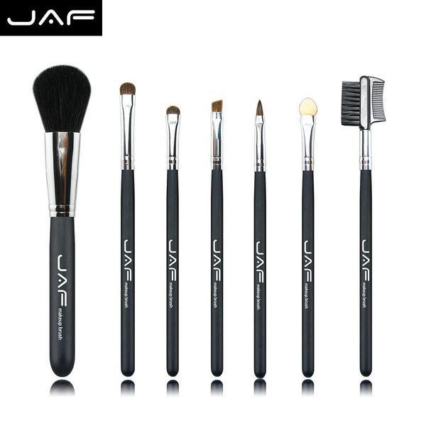 Retail JAF 7 Pcs Studio Makeup Brushes Goat Pony Horse Natural Hair Conveniently Portable Travelling Make Up Brush Set 717PY
