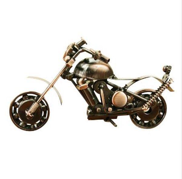 Creativo scooter artesanía de metal diy motocicleta artesanía para amigo cumpleaños mejor regalo decoración del hogar accesorios de mesa estatuilla