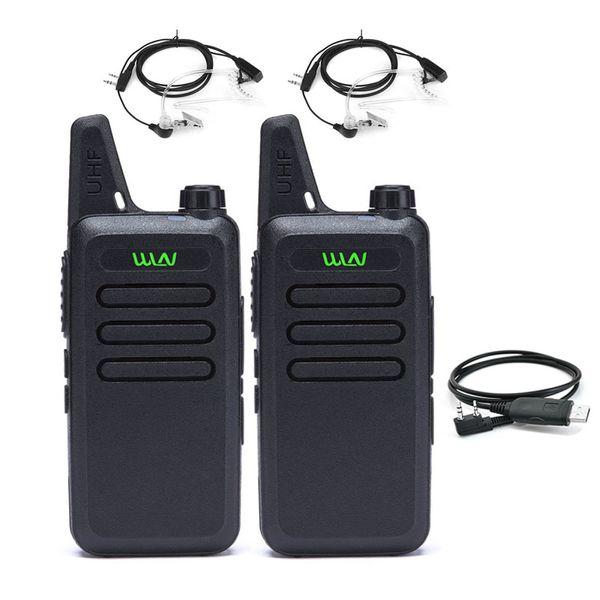 2pcs WLN -C1 UHF Mini Walkie Talkie Portable transceiver communicator cb radio set station handy talky KDC1 two way Radio