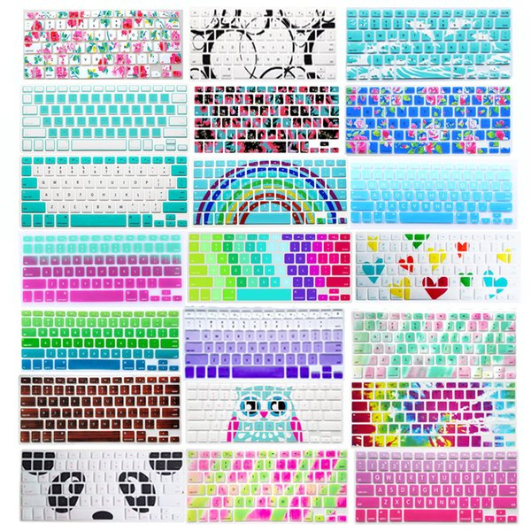 Silicone Soft Decal Prints Keyboard Cover Skin Protective Film Protector for  Macbook Air Pro Retina 13