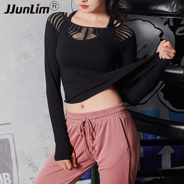 Women Jersey Yoga T Shirt Mesh Hollow Out Dry Fit Fitness Top Shirt Workout Gym Top Clothes Female Sport Running Yoga
