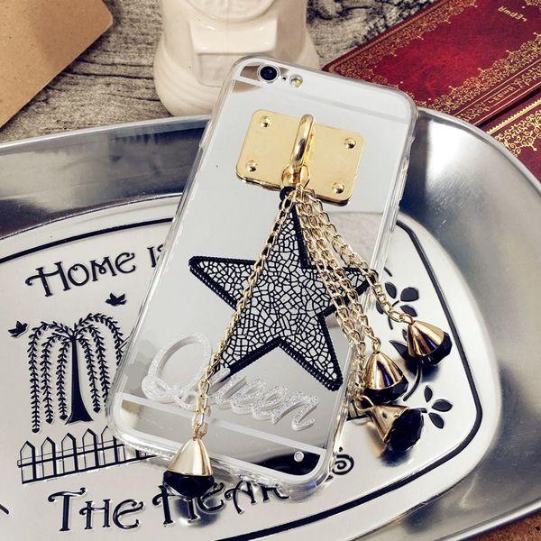 Luxury Fancy Unique Custom name letter star tassel mirror phone case cover For MOTO G4 G5 G6 plus PLAY