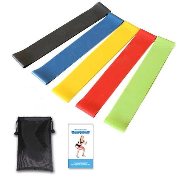 Resistance Bands Exercise Loops Set of 5, Workout Bands for Leg and Butt Yoga Pilates Home&Gym Fitness Stretching Physical Therapy Crossfit