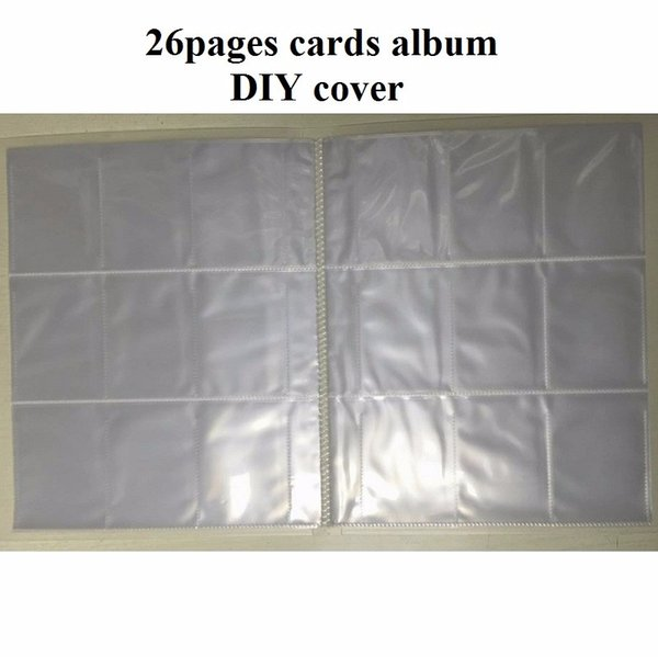 Board game cards album Collection Transparert clear card page book for poker playing card holder magical game the star cards