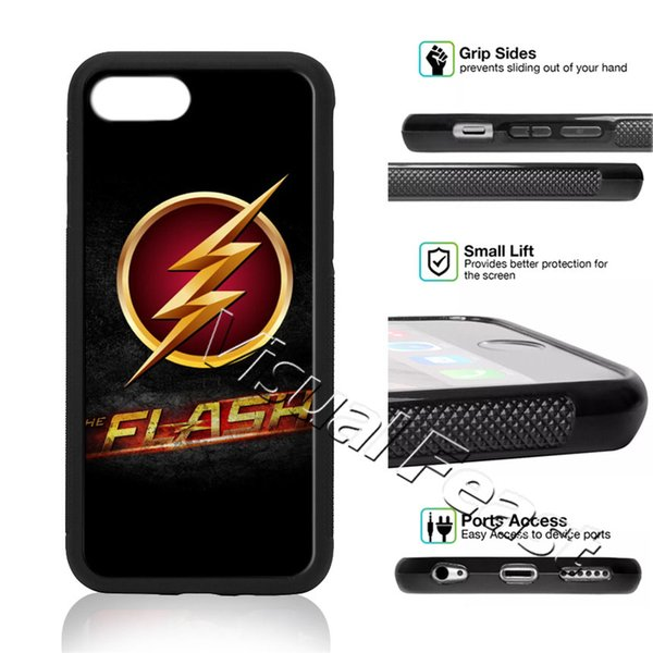 The Flash Phone Case Superman Superhero DC Comics For iPhone X 8/7/6/6s Plus 5s SE Cell Phone Cover Free Gift