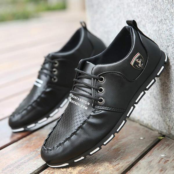 Moda Casual Moda Casual Zapatos de conducción Mocasines de cuero Zapatos de los hombres 2017 Nuevos Hombres Mocasines Zapatos de lujo Zapatos de alta calidad Hombres Mocasín 111X