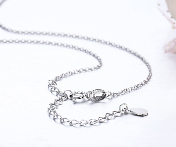 """14""""-32"""" 35cm-80cm+5cm extended Slim 925 Sterling Silver Cut Cross Chain Short Long Necklaces Women Girls Jewelry kolye collares"""
