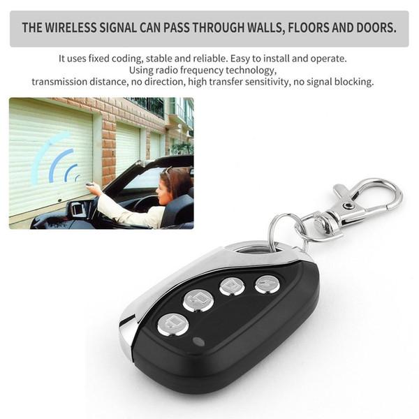 5PCS Wireless Universal Remote Control Electric Cloning Universal Car Gate Garage Door Remote Control Key Fob Black