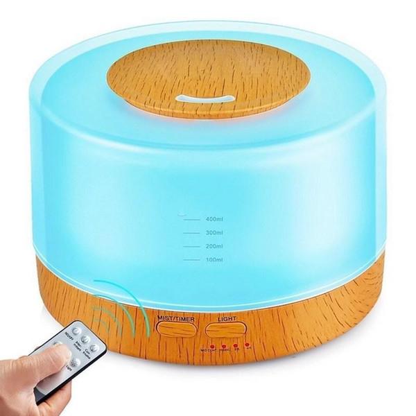 Nuovo di alta qualità 500 ml 7 colori LED diffusore umidificatore per diffusore di aromaterapia ad ultrasuoni olio essenziale diffusore dhl libera il trasporto