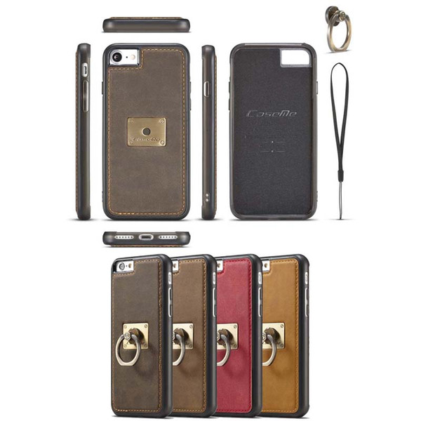 Hot Sale Genuine Leather Tpu+pc Boucle Ring Car Magnetized Kickstand for Iphone 6 6s 7 7plus Full Package Phone Cell Cover Shell Cases