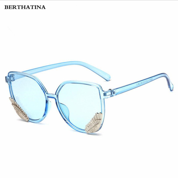 BERTHATINA 2018 Fashion Cat Eye Sunglasses Women Cat eyes Sun glasses lens With A pair of wings Light Weight Sunglass for women