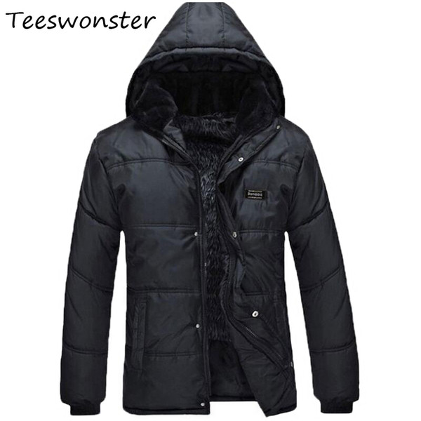 Men 2017 Brand Windbreakers Thicker Suit With Hoody Padded Fat Fur Inner Plus Fat Fitted Warm Jackets Man Comfortable Jacket