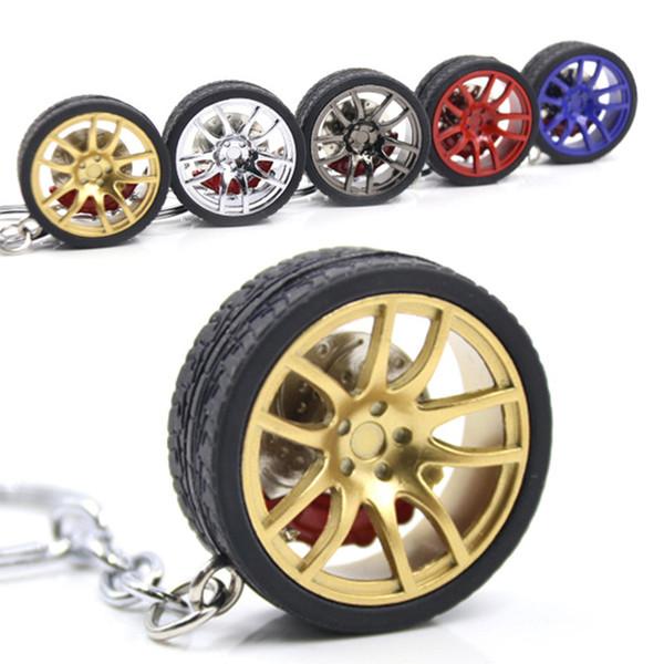 wheel keychain Car wheel Nos Turbo keychain key ring metal with Brake discs
