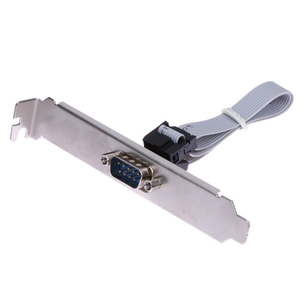 High Quality Motherboard RS232 DB9 Pin Com Port Ribbon Serial Cable Connector Bracket
