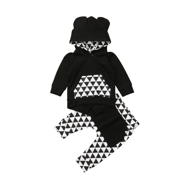 Fashion Baby Boy Clothes Set Boys Long Sleeve Hoodies Tops Pants Tracksuit Set Newborn Clothing Boys Outfits 2018 Baby Clothes
