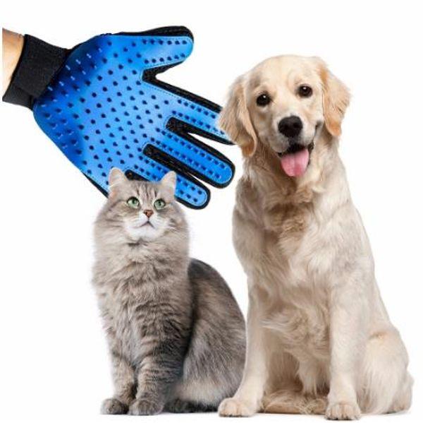 Silikon Haustier Bürste Handschuh Deshedding Gentle Effiziente Pflege Katze Handschuh Hundebad Pet Reinigungsartikel Pet Handschuh Hund Zubehör