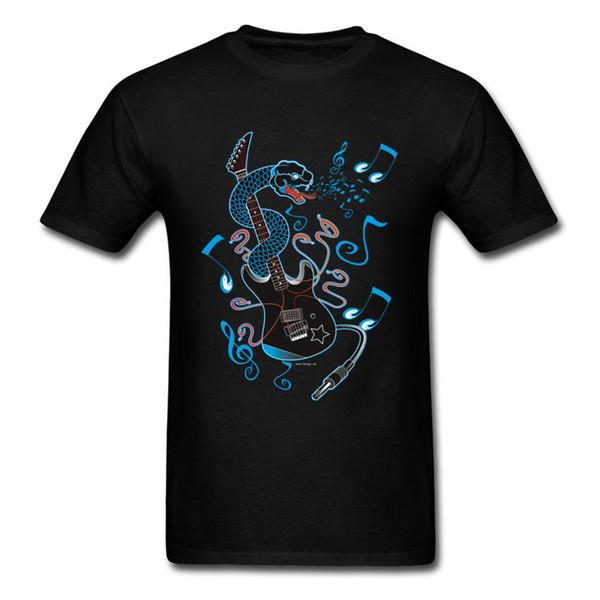 6 Strings Of Venom T Shirt Punk T-shirt Men Hip Hop Tshirt Heavy Metal Snake Tops Cartoon Printed Tees Cool Cotton Streetwear