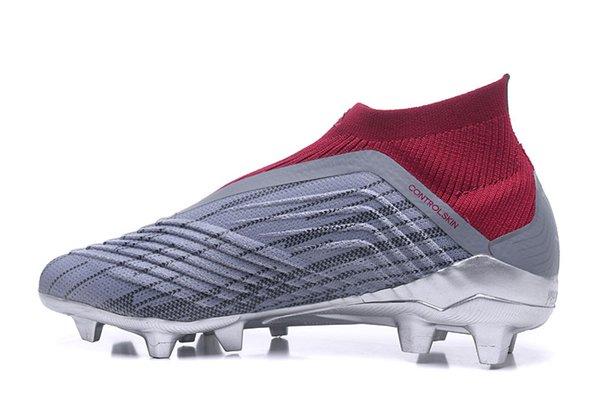 Acquista Scarpe Nuove 2018 Predator 18 + X Scarpe Da Calcio Pogba FG Grigio Argento Colore Scarpe Sportive Da Calcio All'ingrosso FG Di Alta Qualità