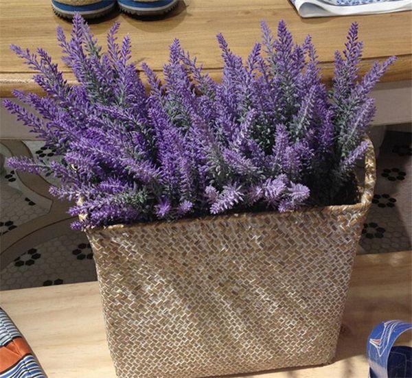 Provence Lavender Flor Tomento De Seda Artificial Lavanda Artificial Flor Lilás Roxo Violeta Branco Decoração de Casamento Festa Em Casa