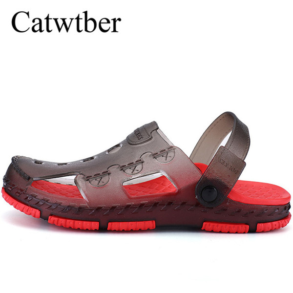 Catwtber Men's Beach Shoes Non-slip Speed Interference Water Shoes Outdoor Plastic Beach Slippers Casual Men's Shoes Slip 2018