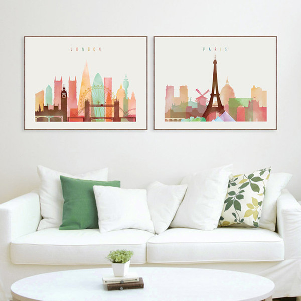 2019 London/Paris/New York Paintings Nordic Decoration Canvas Minimalist  Wall Art Picture Painting For Living Room Bedrooms Home Decoration From ...