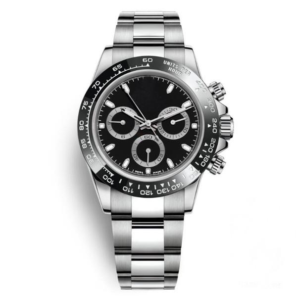 Noir Montres Hommes 40mm En Acier Inoxydable Casual Lunette En Céramique Montres En Gros Auto Date Hommes Robe Montre Vente Chaude Horloges Masculines Cadeau Reloj Date