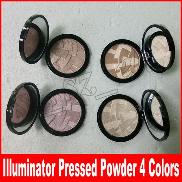 Evidenziatore per trucco Viso per viso Illuminante per pelle Illuminatore per carnagione Contour Highlighter Powder 4 colori con confezione
