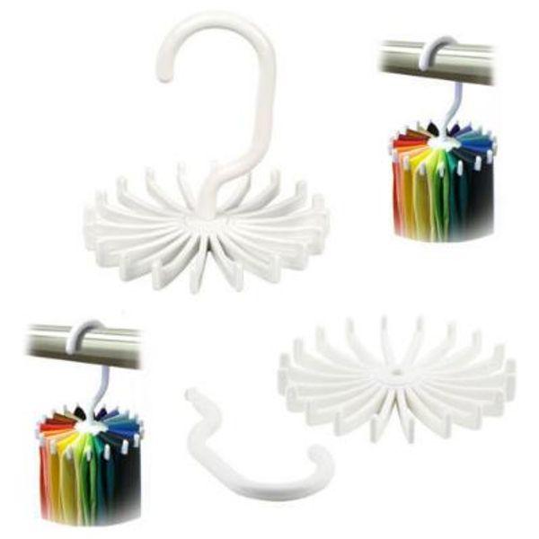 Tie Rack Belt Holders Tie Racks Organizer Hanger Closet 20 Hooks Rotating Neck Ties Housekeeping Organization Hangers Rack CCA9400 1300pcs