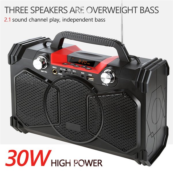 30w Wireless Loudspeaker Bluetooth Speaker Bass Subwoofer Party Music Player Support Microphone Remote contro Big Power