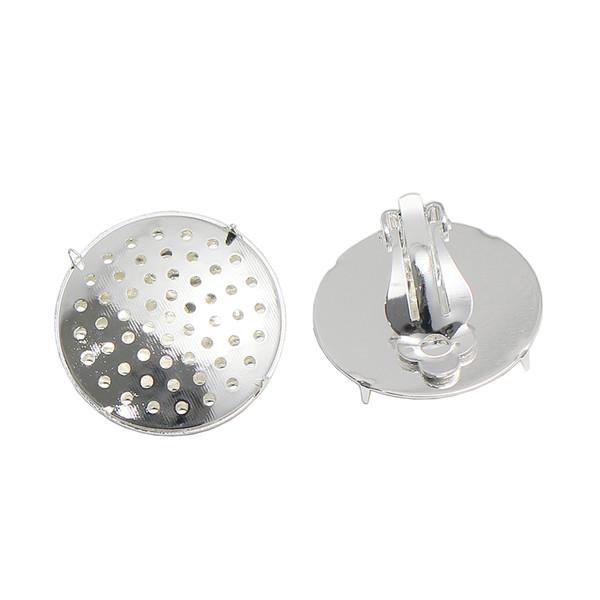 Beadsnice Brass Round Clip-On Earring blank fashion earrings wholesale jewelry lots ID37616