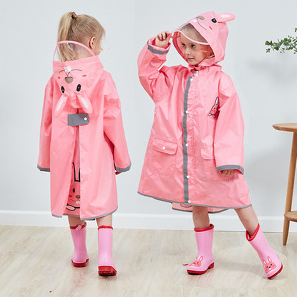 90-145 CM çocuklar çocuklar için su geçirmez yağmurluk bebek yağmur ceket panço erkek kız ilköğretim okulu öğrencileri yağmur panço ceket