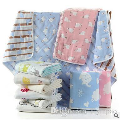 Summer Baby Air Condition Blanket Summer Quilt Kids Cartoon Bath Towel Sleeping Blankets Lunch Break Portable Small Carpeting