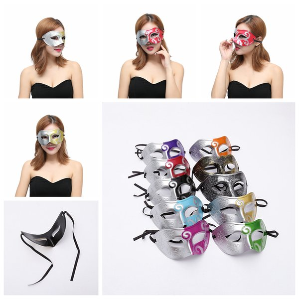 Roman Gladiator Mask Half Faces Mask Halloween Costume Party Mask For Women Men Venetian Mardi Gras Masquerade AAA1261