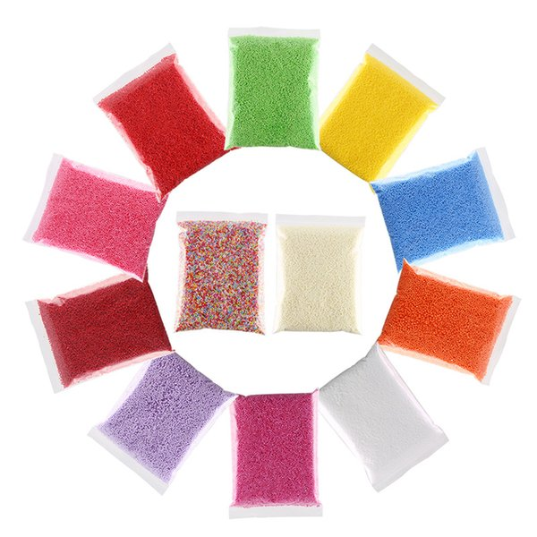 1 Bag 2.5-3.5mm Colored Round Foam Balls DIY Wedding/Party Assorted Colors Decorate Pillow/Sofa Filler 7000-8000 Balls Each Bag