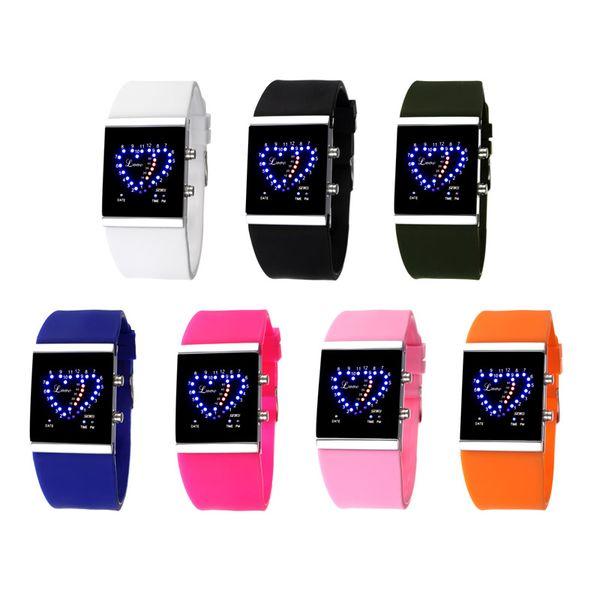 2018 nuovo digistal orologio da polso unisex touch screen intelligente uomo donna orologi grande quadrante display moda elettronica in silicone orologio LED