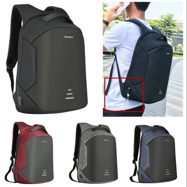 USB Charge Backpack Waterproof External Port Laptop Backpack Anti-theft Bag School Notebook Bag Travel Backpacks 8 Styles OOA4713