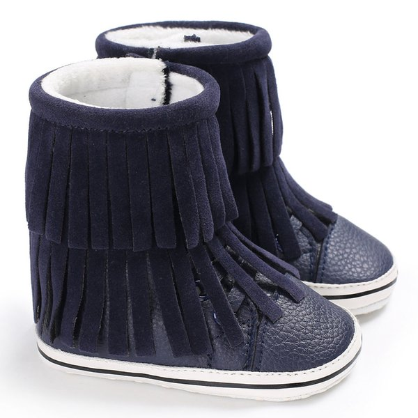 Infant Fashion Newborn Kids Girls Boys Soft Soled Booty Booties Toddler Baby Winter Boots Fringed Super Keep Warm Shoe