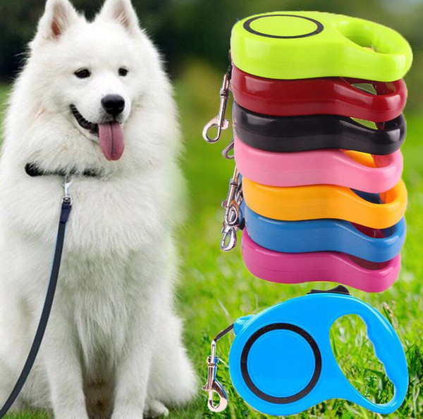 Automatic Retractable Traction Rope Magic Pet Dog/Cat Puppy Automatic Tractor Dog Rope Walking Lead Leash EEA299 120pcs