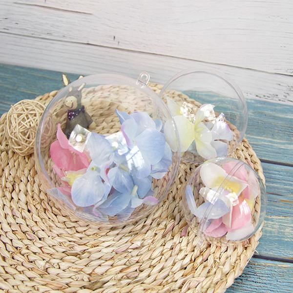 100pcs 5cm en plastique transparent bain bombe moules moule de fabrication boules remplissables boule ornement boule de noël Produits créatifs