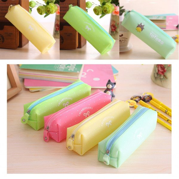 Kawaii Chinchillas Bowknots Pen Bag Stationery Storage Jelly Glue Cosmetic Box Fit School/Office/Travel supplies Unique Presents