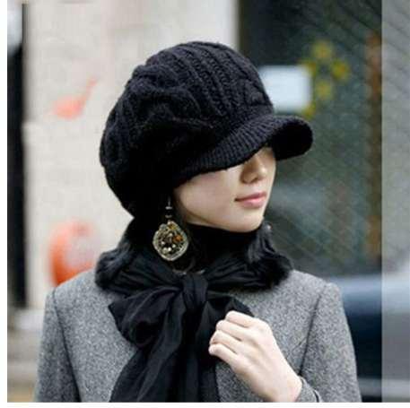 Kadın Şapka Kış Kasketleri Örgü Kış Kadınlar Bayanlar Için Şapka Beanie Kızlar Skullies Caps Bonnet Femme Snapback